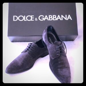 🔥Very RARE Dolce suede derby shoes must SEE!!